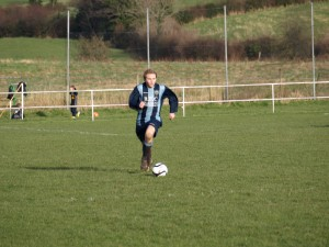 Stuart McMullan with the ball