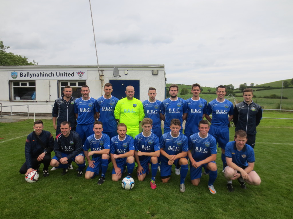 United in their new kit which was generously sponsored by BEC Electrical. The players and committee of BUFC are very appreciative of the continuing support BEC have given season after season by supplying new strips.