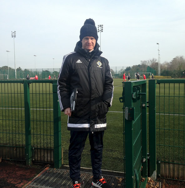 Keith Hamilton who is an Irish FA Volunteer Match Monitor and has been involved within various other volunteer roles at the Irish FA.